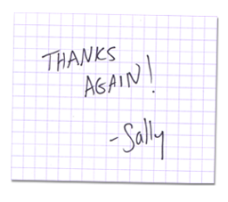 note from sally