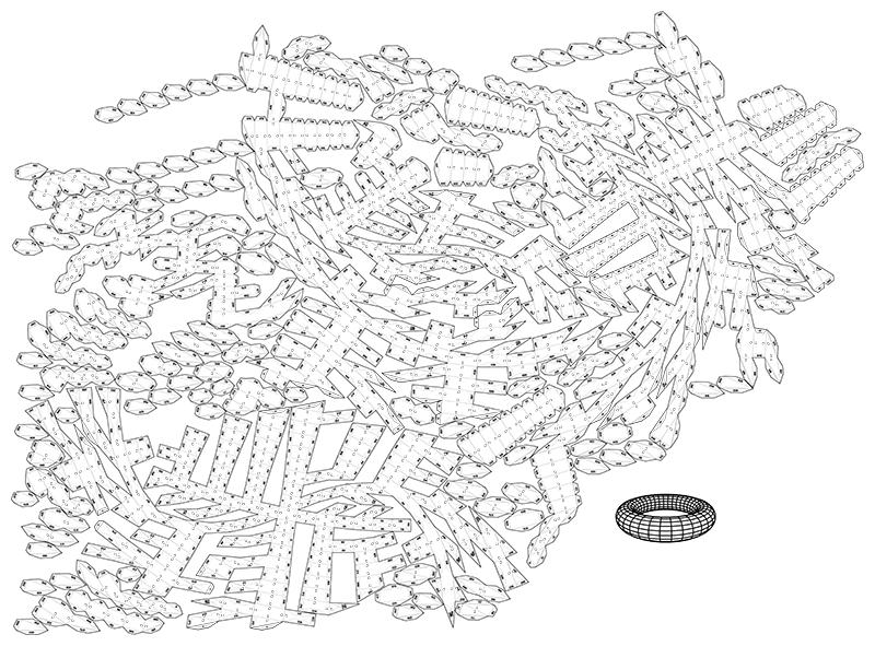 screenshot papercraft torus