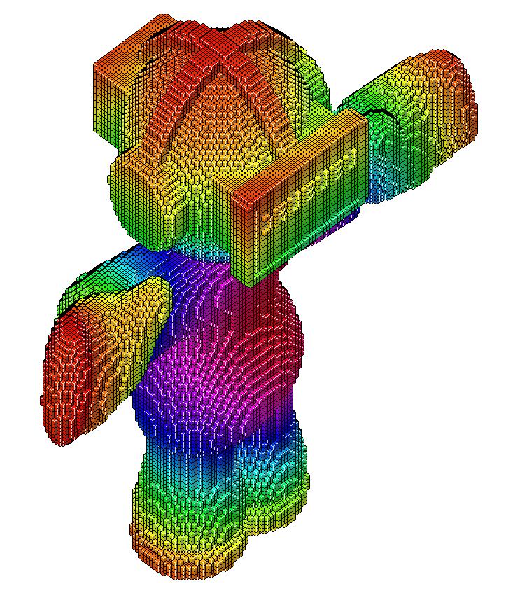 voxels, voxel modelling, three dimensional pixels or
